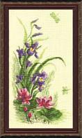 Набор для вышивки крестиком  Триптих Полевые цветы