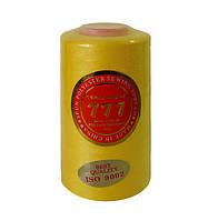 "Нитки швейные ""777"" №40/2 - цвет желтый"