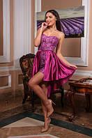 Женское нарядное короткое платье