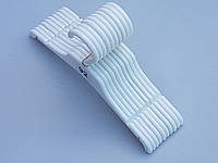 Плечики вешалки тремпеля PG-25 белого цвета, длина 25 см,  в упаковке 10 штук