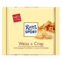 Шоколад  Ritter Sport Weiss+Crisp 250г (Германия)