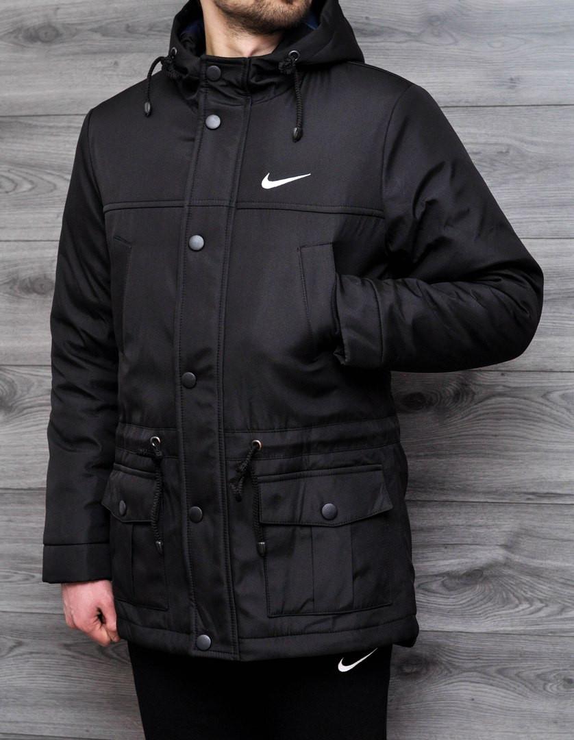 02a04ad6 Мужская весенняя парка Nike черная топ реплика - Интернет-магазин обуви и  одежды KedON в