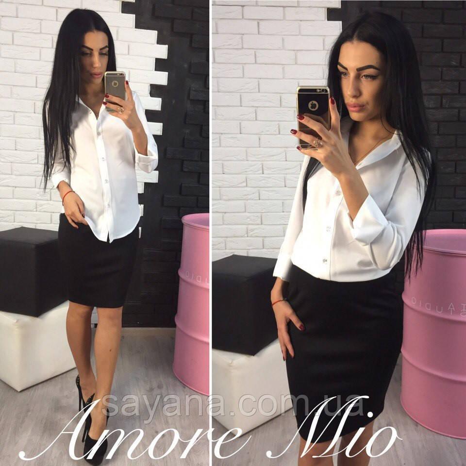 5b30e23639d Купить Женскую деловую костюм  рубашку и юбку в моделях. ЛУ-68-0117 ...