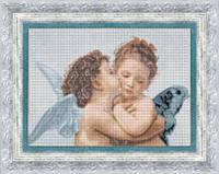 Набор для вышивки крестиком   По мотивам В. Бугро Амур и Психея. Дети