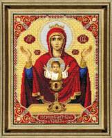 Набор для вышивки крестиком  Икона Пресвятой Богородицы Неупиваемая Чаша