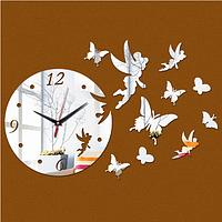 "Настенные часы-наклейка ""Бабочки"""