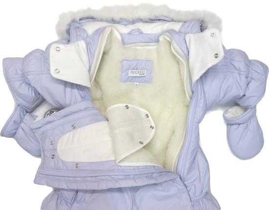 Комбинезон-трансформер Garden Baby Ластенок на овчине голубой, фото 2