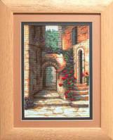 Набор для вышивки крестиком   Дворик с розами