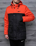 Мужская весенняя куртка Nike оранжевая