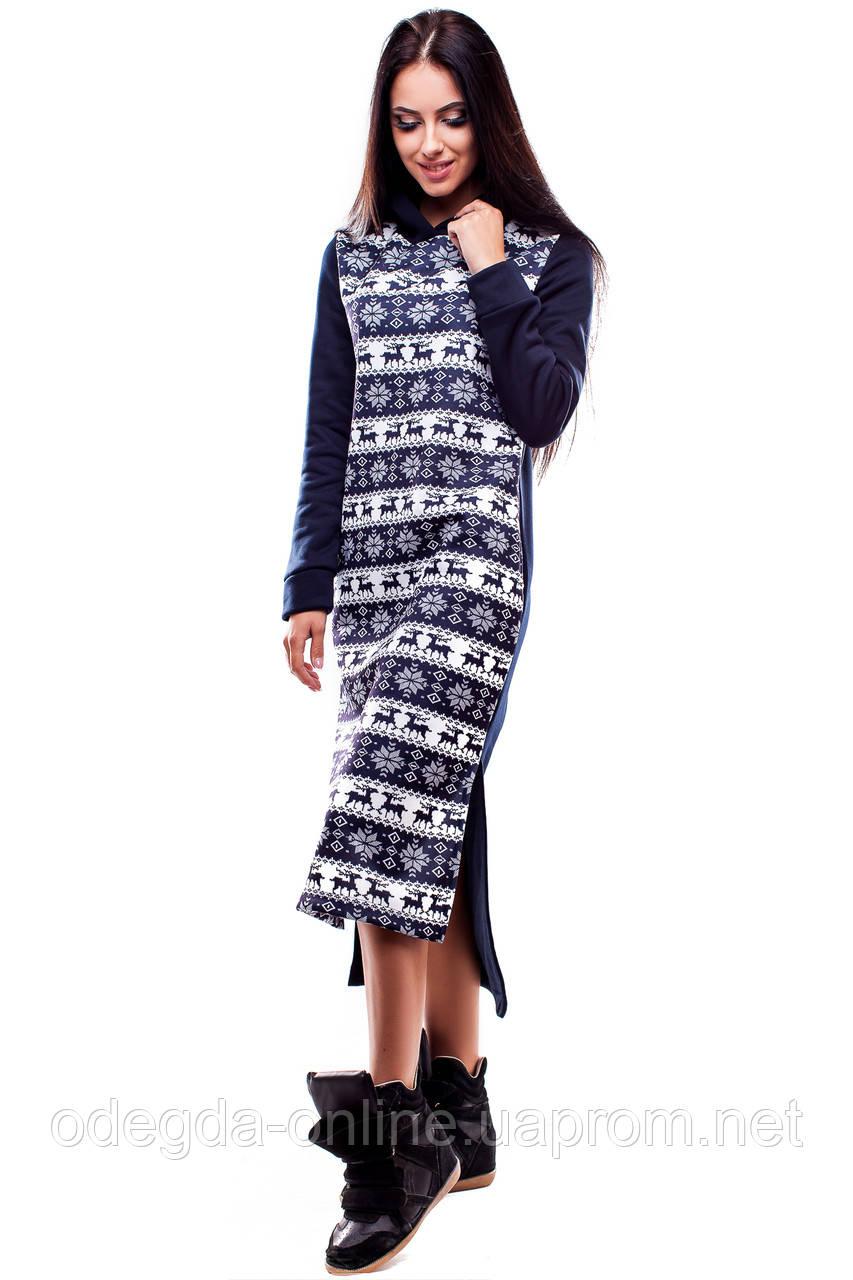 Платье  утеплённое  женское