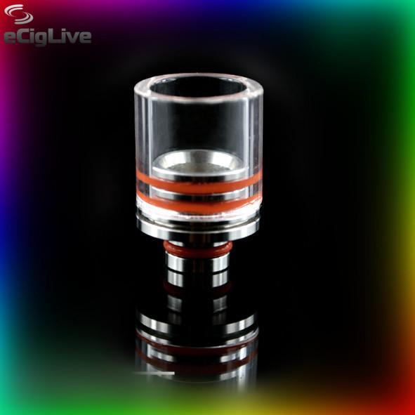 Широкий стеклянный 16 мм мундштук (Drip Tip) 510 для электронной сигареты - Интернет магазин электронных сигарет - eCigLive в Харькове