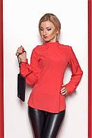 Стильная рубашка-блуза цвет : коралловый