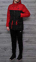 Весняна чоловіча куртка Nike червона топ репліка, фото 3