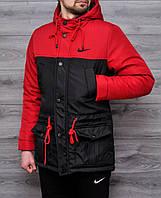 Весенняя мужская куртка Nike красная