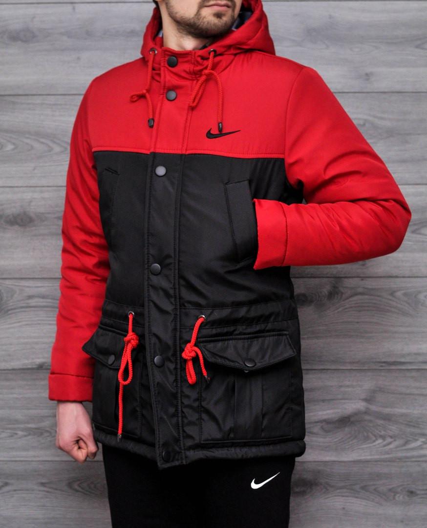 a9983b4f Весенняя мужская куртка Nike красная топ реплика - Интернет-магазин обуви и  одежды KedON в