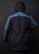 Мужская парка Nike Navy/Black демисезонная топ реплика, фото 2