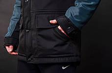 Мужская парка Nike Navy/Black демисезонная топ реплика, фото 3