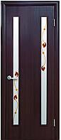 Дверь КВАДРА ВЕРА экошпон, венге 3D, дуб жемчужный, кедр, сандал, ясень патина (стекло сатин рис. Р3)