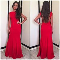 Вечернее платье однотонного цвета модель 490 ар