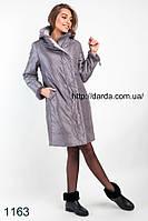 Женская куртка с мехом норки премиум класса Snoy Beauty