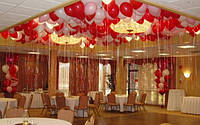 Гелиевые шарики под потолок на свадьбу.Цвета в ассортименте