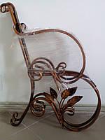 Скамейка садовая боковины 2 шт. листья
