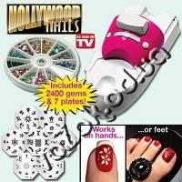 Набор машинка принтер штамп для дизайна ногтей стемпинга Голливудские ногти Hollywood Nails, фото 1