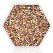 Плитка мощения шестиугольная (фигурная) из гальки