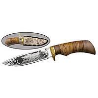 Охотничий нож Лазутчик (Ворсма) ,рукоять береста ,орех