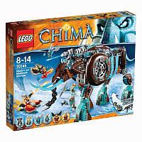 Пластмассовый конструктор LEGO Legends of Chima Ледяной мамонт-штурмовик Маулы (70145)