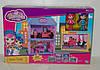 Игровой домик JIEYU для кукол с мебелью + 2 шт. куколки Barbila
