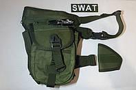 Сумка тактическая, набедренная SWAT (Silver Knight). Расцветки - олива, койот, черный.