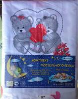 Постельное белье в кроватку (комплект) 100% хлопок. код 19049