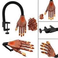 Тренировочная рука на штативе для наращивания ногтей, крепление зажим