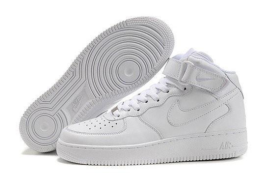 Кроссовки женские Nike Air Force 1 High белые топ реплика