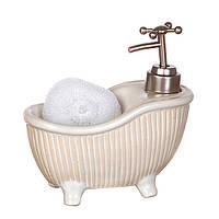 Дозатор с мочалкой Белая ванна
