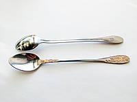 Ложка кофейная с длинной ручкой из нержавейки Золотистая 18см., фото 1