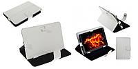 Чехол для 8' планшета @LUX TL-480 пресс-Кожа, цвет: белый, разм: 230*170*25мм, крепление магнит, внутренняя ножка-подставка,