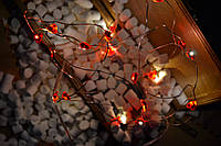 """Новогодняя гирлянда на батарейках из  капель проволочная """"Сердечки"""" , фото 1"""