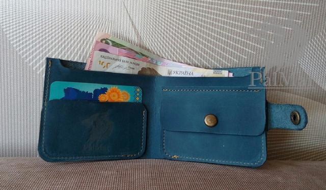 """Чоловічий гаманець """"Вlue"""" ручної роботи"""