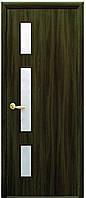 Дверь КВАДРА ГЕРДА экошпон, венге 3D, дуб жемчужный, кедр, сандал, ясень патина (стекло сатин)