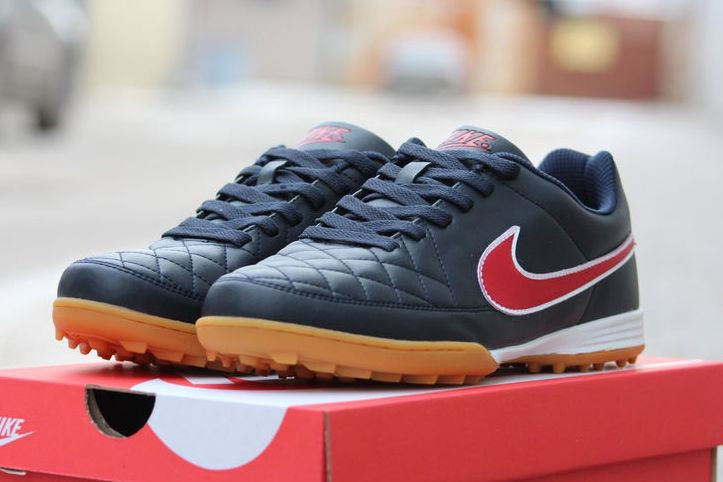 Футбольные сороконожки Nike Tiempo Genio TF Racer Blue/Crimson/Black