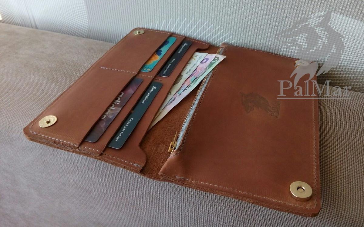 """Жіноче портмоне гаманець, кошелек """"Ві2"""" ручної роботи, натуральна шкіра, на кнопках магнітах, клатч - Інтернет - магазин """"Hohhol"""" в Киеве"""