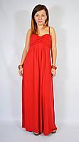 Сарафан трикотажный красный, 42 размер