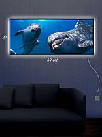"Картина c подсветкой 29х69 ""Дельфиний Заплыв"""