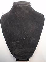 Подставка под колье, цепочки Черная с поролоном вшг 23х17х10 см