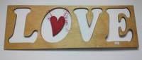 Надпись из дерева для оформление свадеб LOVE