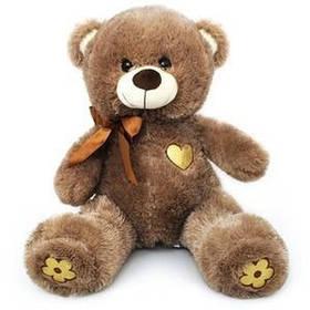 Плюшевый Мишка с сердечком Масяня 1340 60 см коричневый