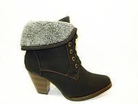 Сапоги женские зимние черные на каблуке С515 р 36,39