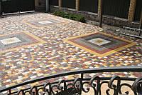 Укладка тротуарной плитки от 100м, фото 1